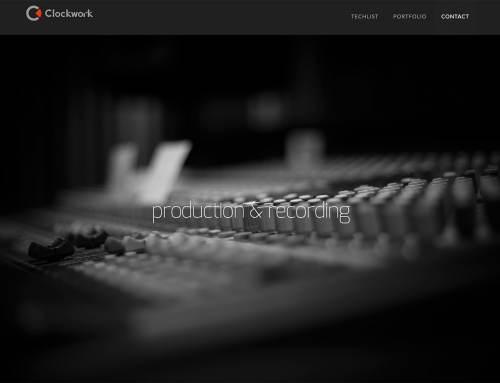 Clockwork stuudio veebidisain
