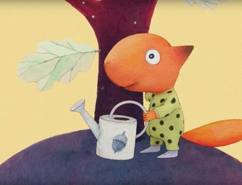 """Raamatu """"Pisike Puu"""" jagamiskampaania animatsioon"""